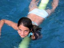 Swimmingpool-Mädchen Stockbilder