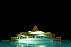 Swimmingpool at night. With black sky Royalty Free Stock Images