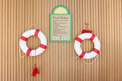 Swimmingpool-Regeln Stockfoto