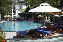 Swimmingpoolerholungsort Lizenzfreies Stockbild