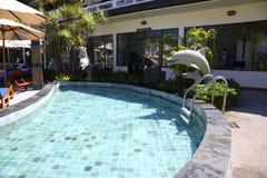 Swimmingpoolerholungsort Stockbilder