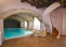 Swimmingpoolraum Lizenzfreies Stockfoto
