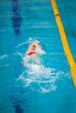 swims пловца Стоковая Фотография