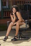 swimsuit стула модельный Стоковое Фото