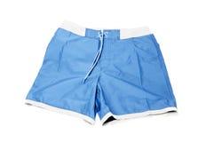 Swimsuit. Khaki boardshorts isolated on a white background Royalty Free Stock Photo