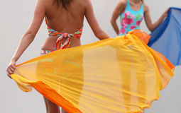 Swimsuit. On fashion show royalty free stock images