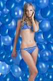 Swimsuit and balloons in blue, Stock Images