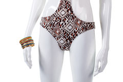 Swimsuit bottom and bracelet set. Royalty Free Stock Photography