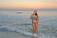 Free Swimsuit Model On Beach At Sunrise Royalty Free Stock Image - 43812046