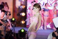 Swimsuit przedstawienia pierwszy chybienie Jiangxi Międzynarodowy konkurs Obraz Stock