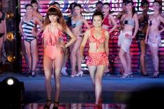 Swimsuit przedstawienia pierwszy chybienie Jiangxi Międzynarodowy konkurs Obrazy Stock