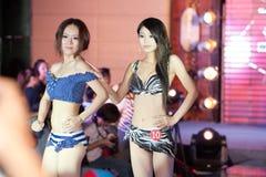 Swimsuit przedstawienia pierwszy chybienie Jiangxi Międzynarodowy konkurs Obrazy Royalty Free
