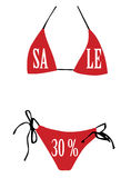 Swimsuit for sale Stock Photo