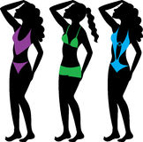 Swimsuit Silhouettes 2 Royalty Free Stock Photo