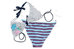 Swimsuit striped Royalty Free Stock Photos