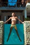 swimsuit target1379_0_ kobiet potomstwa Obraz Stock