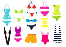 Swimsuit vector collection Royalty Free Stock Images