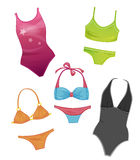 Swimsuits for girls Royalty Free Stock Photos
