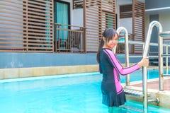 Swimwear на ослабляет время Стоковая Фотография