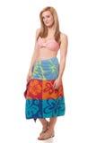 Женщина в Swimwear Стоковое Изображение