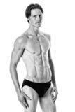 человек над белизной swimwear студии съемки Стоковые Изображения