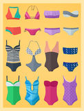 Swimwear made in flat design Stock Photo