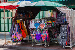 Swimwear at a market Stock Photography