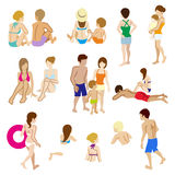 Swimwear people sets,Isolated Stock Photography