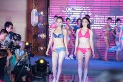 swimwear pierwszy chybienie Jiangxi Międzynarodowy konkurs Zdjęcia Stock