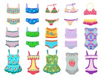 Swimwears for little girls Stock Photography