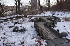 Swindler Cove 6. This park is located in the Inwood neighborhood of Manhattan Stock Image