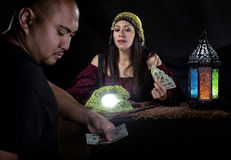 Swindler Fortune Teller Stock Photo