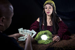 Swindler Fortune Teller Stock Photos