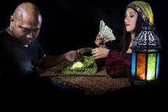Swindler Fortune Teller Royalty Free Stock Photos