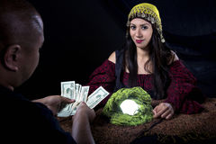 Swindler Fortune Teller Stock Image