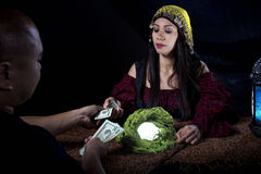 Swindler Fortune Teller Stock Photography