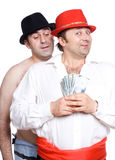 The swindler and a victim Royalty Free Stock Photography