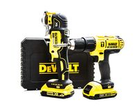 DeWalt cordless power tools on a white background Royalty Free Stock Photo