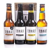 Toast craft beer, brewed with surplus fresh bread. SWINDON, UK - JUNE 17, 2018: Toast craft beer, brewed with surplus fresh bread stock images