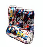 4 Cans of Kronenbourg 1664 limited edition Eric Cantona pour la victoire lager Royalty Free Stock Photos