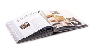 Ciabatta Bread Recipe Book on a white background royalty free stock photos