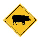 Swine Fle road sign Royalty Free Stock Photography