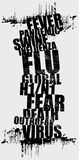 Swine flu. Grunge typographic illustration on swine flu issue Stock Photo