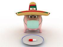 Swine flu Royalty Free Stock Images
