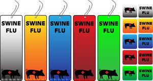 Swine Flu Banners Stock Image