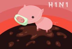Swine Flu Epidemic Royalty Free Stock Images