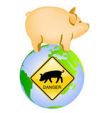 Swine flu icon. Illustration Royalty Free Stock Images