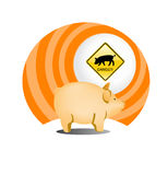 Swine flu icon. Illustration Stock Photos