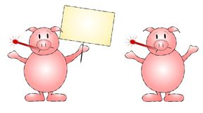 Swine Flu Pigs Clip Art Vector Illustration