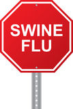 Swine Flu Red Road Sign Stock Image
